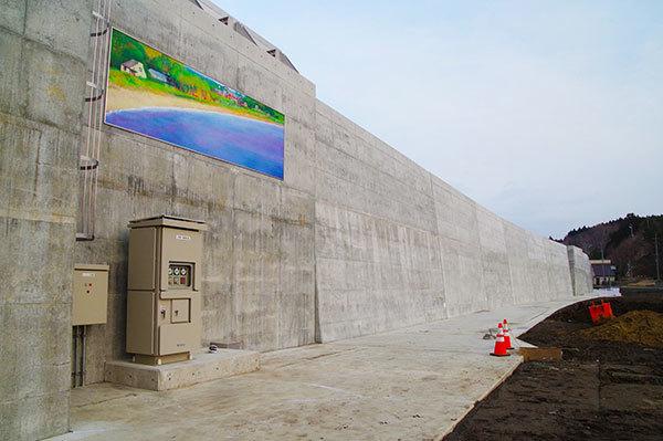 洋野町 八木漁港の新防潮堤