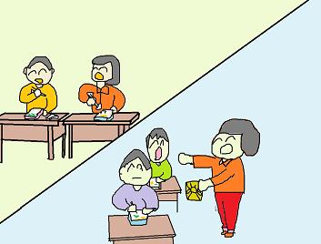 無題方言小話:弁当交換するべ3