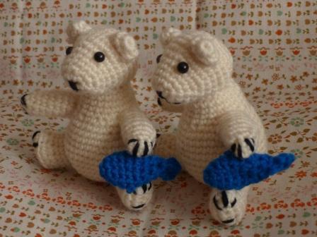 編みぐるみ シロクマ 4