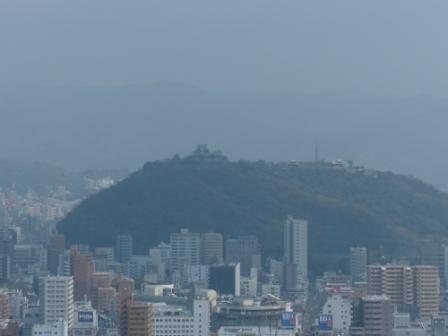 松山総合公園 頂上からの眺め (松山城)
