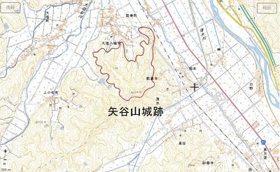 越前市矢谷山城跡
