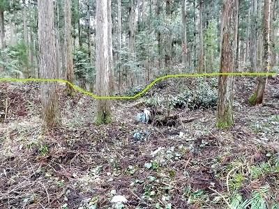 越前町大窪鎌太屋敷跡の踏査(ブログ用) (2)
