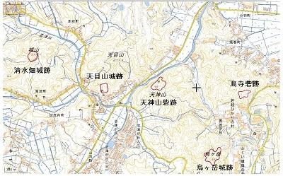 大森周辺城館位置図