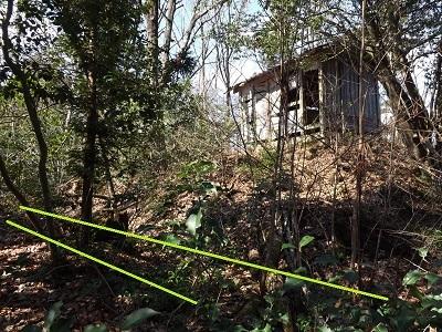 福井市天神山砦の踏査2017年2月28日 (8)