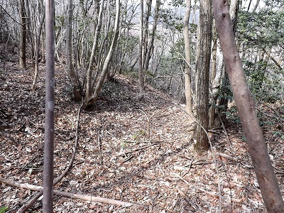 編集_あわら市東山上野山城跡の踏査2017年3月26日 (7)