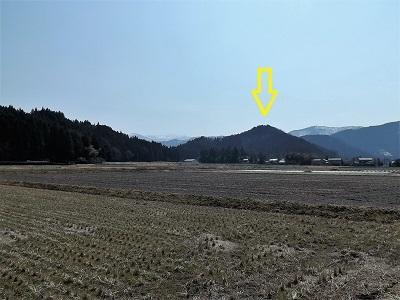 2017年3月大野市茶臼山城跡の踏査(ブログ用) (3)