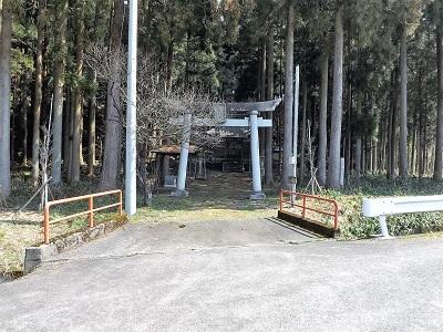 2017年3月大野市茶臼山城跡の踏査(ブログ用) (4)