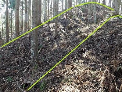 2017年3月大野市茶臼山城跡の踏査(ブログ用) (9)