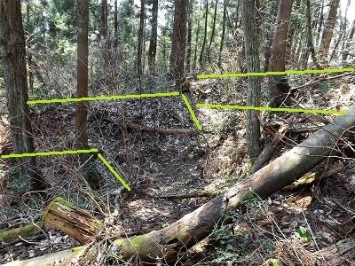 2017年3月大野市茶臼山城跡の踏査(ブログ用) (13)