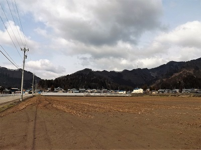 2017年4月1日大野市牛ヶ原城跡の踏査 (2)