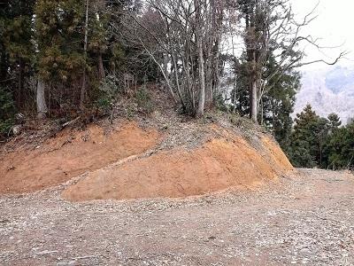 2017年4月1日大野市牛ヶ原城跡の踏査 (10)