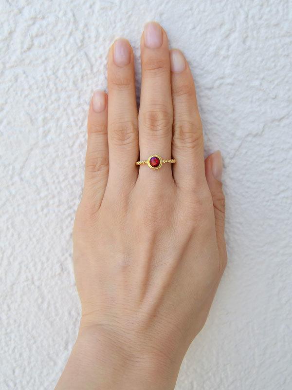 レッドスピネルリング指輪