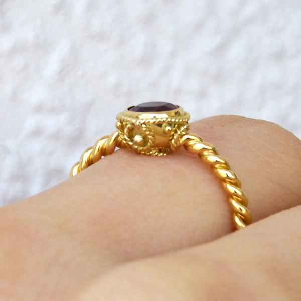 レッドスピネルリング指輪2