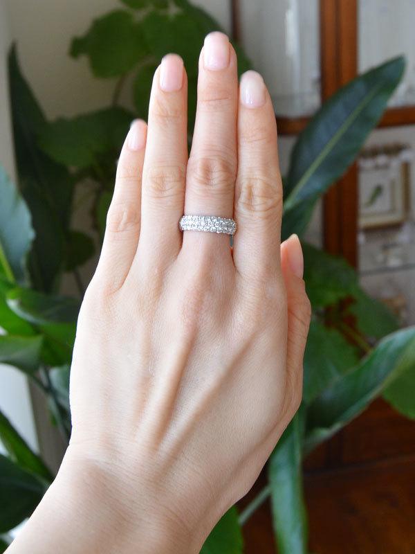 プラチナダイアモンドパヴェリング指輪