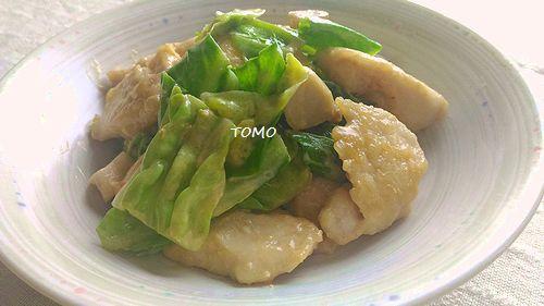 キャベツと鶏胸肉のピリ辛味噌マヨ炒め