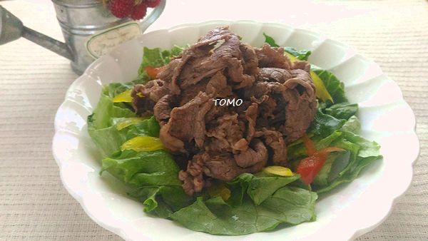 中華ゴマドレ焼き肉サラダ