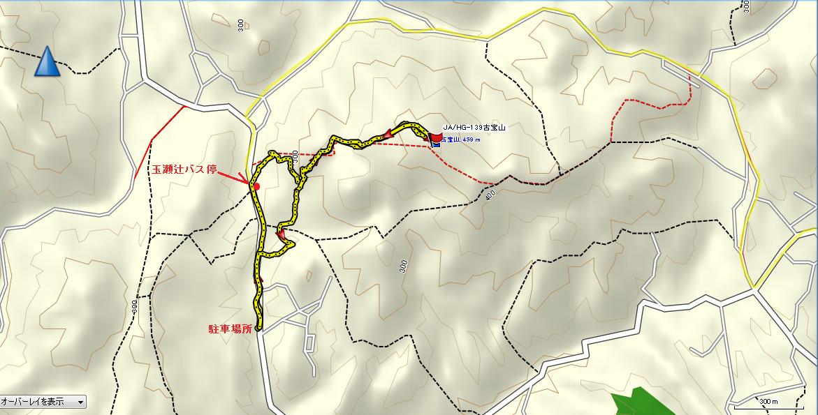 古宝山/地図
