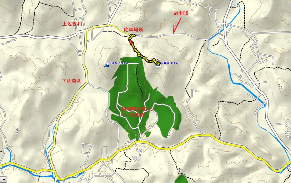 三蔵山/地図