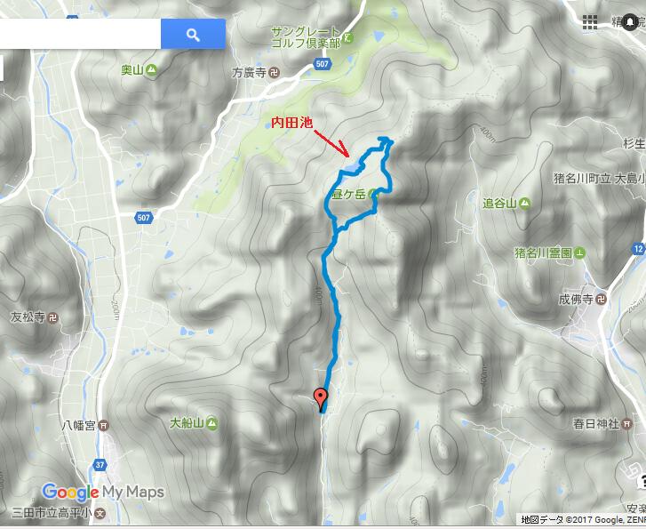昼ヶ岳/地図ログ