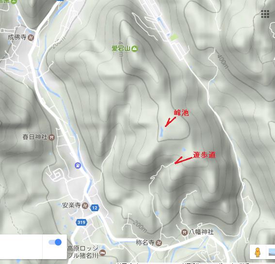 猪名川愛宕山/地図