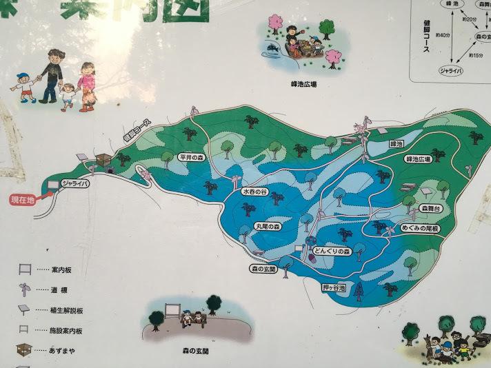 猪名川愛宕山/案内図