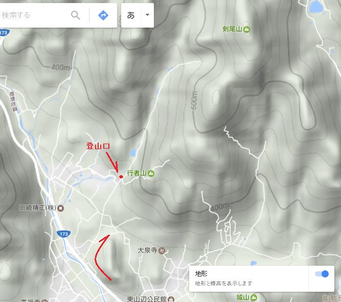 2017剣尾山/地図1