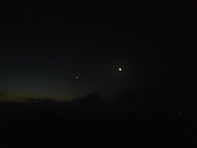 2017八ヶ尾山/月と金星