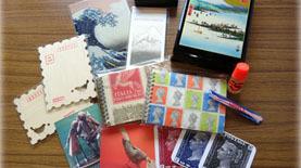 切手の博物館ブース