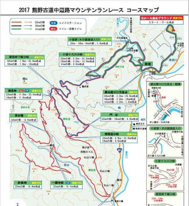 中辺路コースマップ