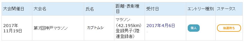 2017神戸エントリー