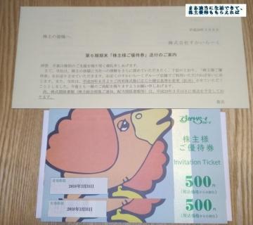 すかいらーく 優待券1000円相当 201612