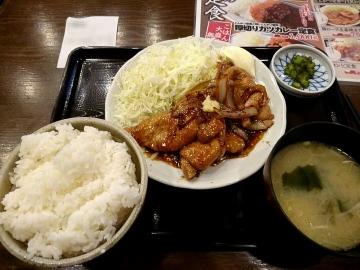 ヴィアHD 紅とん 生姜焼き定食01 201701