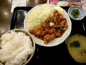 ヴィアHD 紅とん 生姜焼き定食02 201701