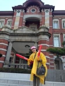 東京駅応援途中