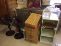 冷蔵庫、加湿器、扇風機、三段ボックス、衣装ケース、その他カントリー小物、ガラスケース s6