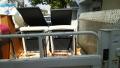イス×4、一人用ソファー、電気ストーブ i2