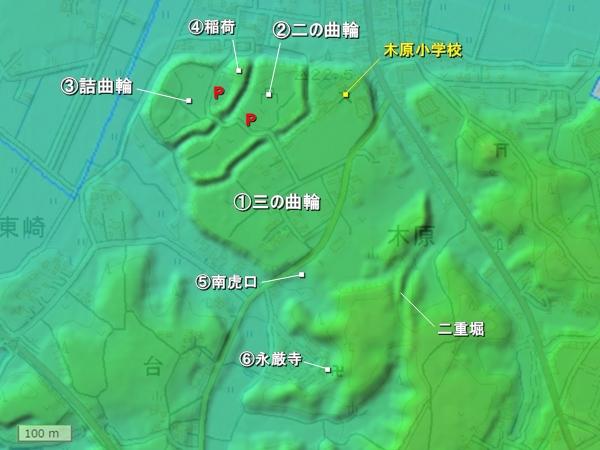 木原城地形図
