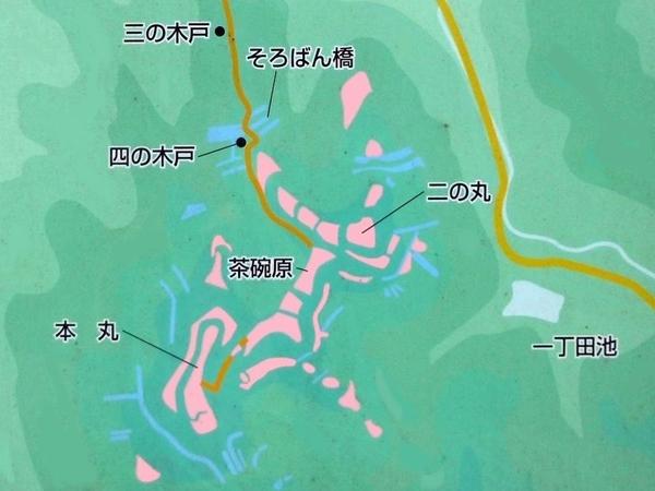 上赤坂城_縄張