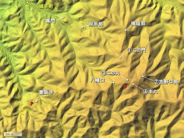 高取城地形図