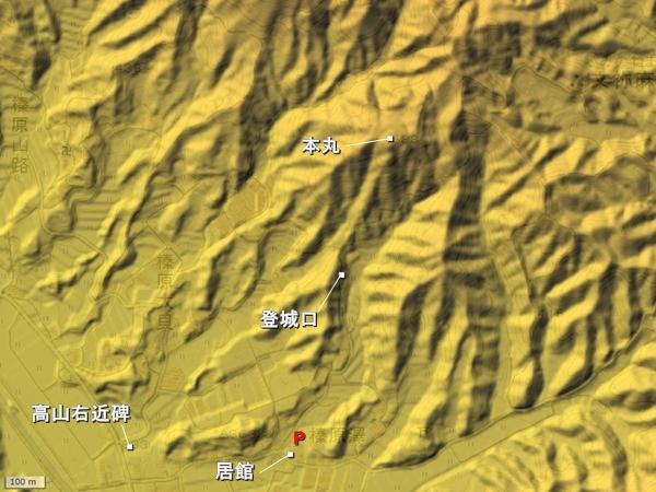 沢城地形図