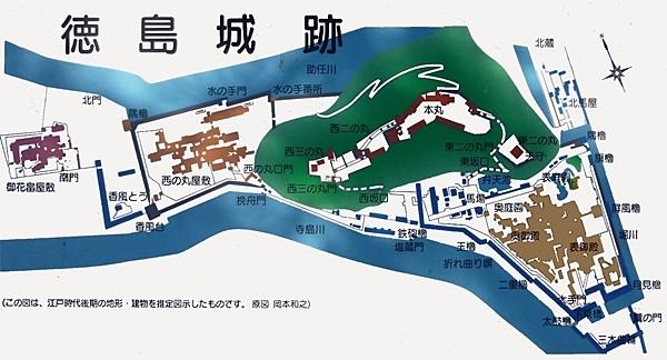 徳島城_縄張