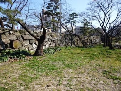 徳島城_北側石垣