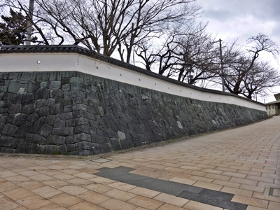 東根城_模擬石垣