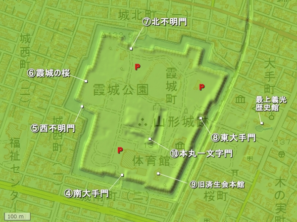 山形城_詳細図