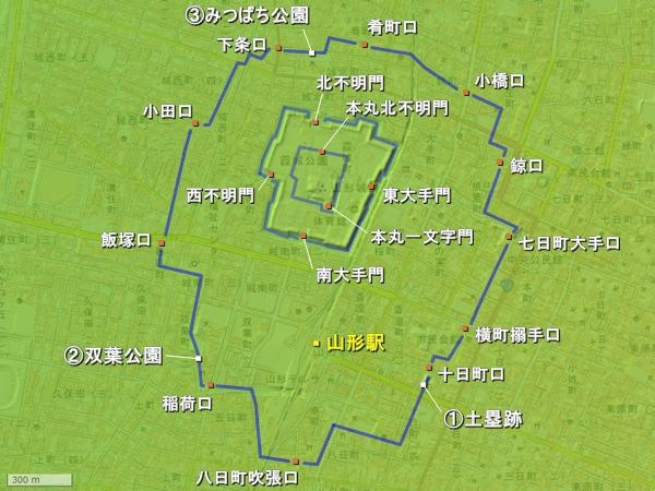 山形城広域図