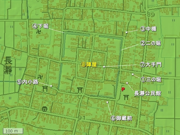 長瀞城地形図
