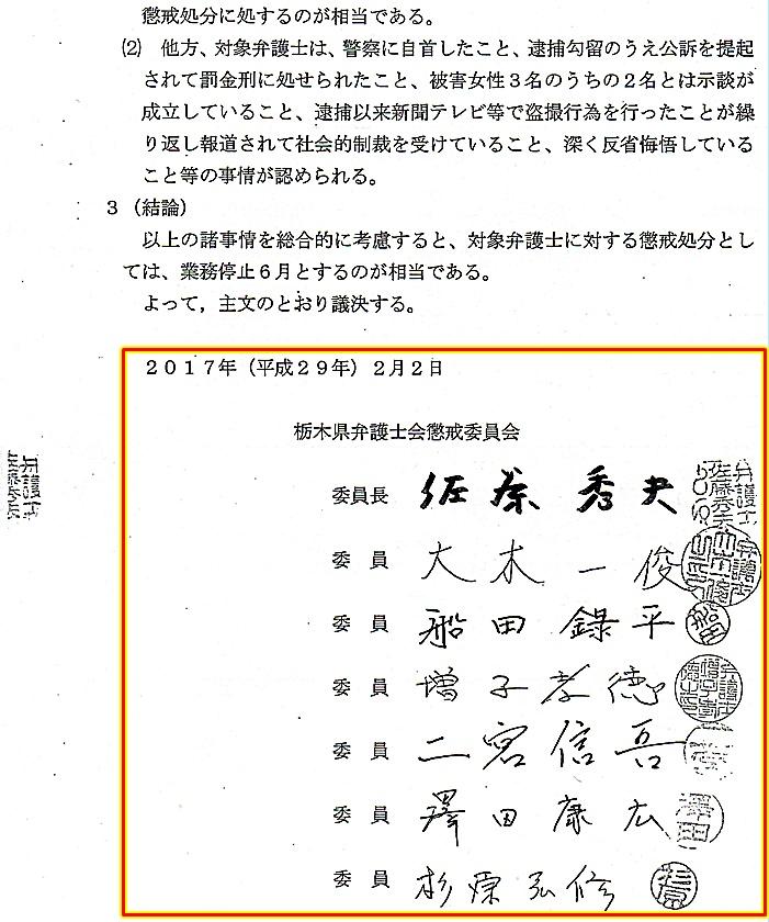 梅津真道弁護士 懲戒議決5