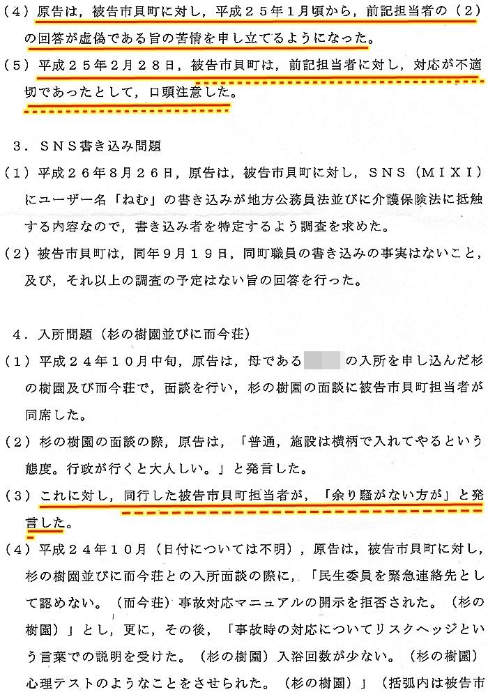 準備書面 蓬田勝美弁護士 入野正明町長 市貝町 道の駅 サシバの里いちかい1
