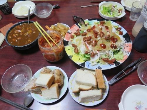カレーの晩御飯