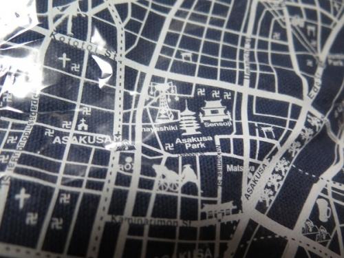 古地図トート 浅草辺り現在